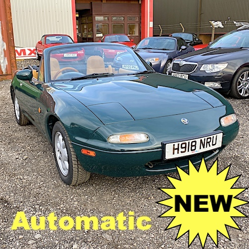 1990 Mazda Eunos Mk1 1.6 V-Spec Roadster AUTOMATIC in Neo Green
