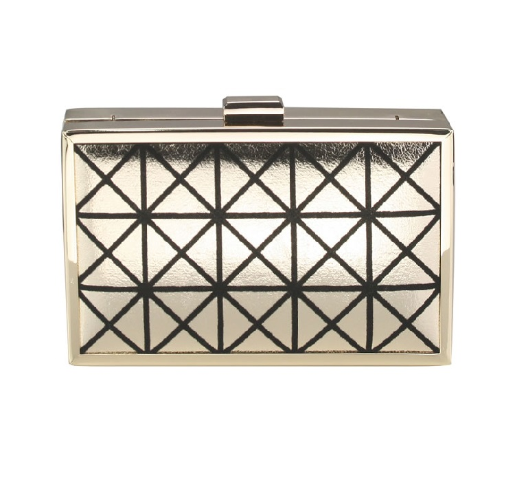 Evening Box Clutch Gold