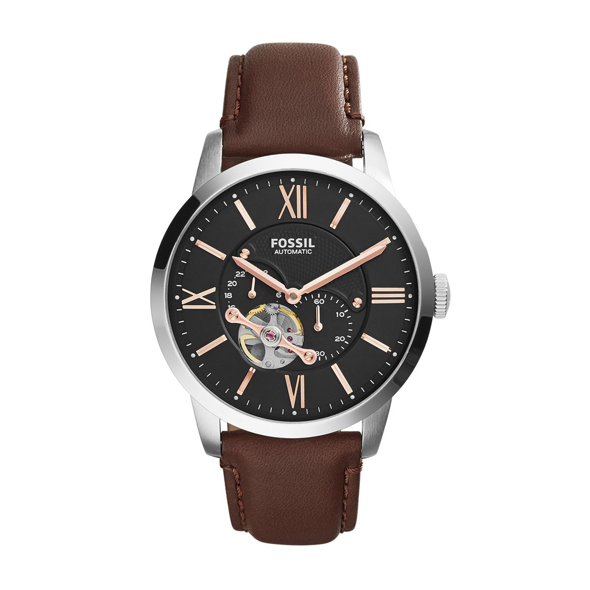 ?Townsman Brown Leather Automatic Watch For Men / Promotional pr