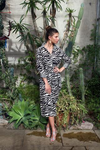5c732a455f0e84 Sophia Shirt Dress in Zebra