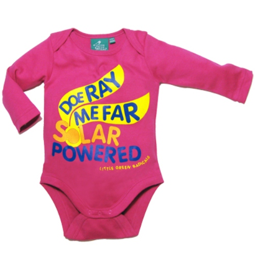 Organic Cotton Baby Bodysuit - Doe Ray me Far Solar Powered