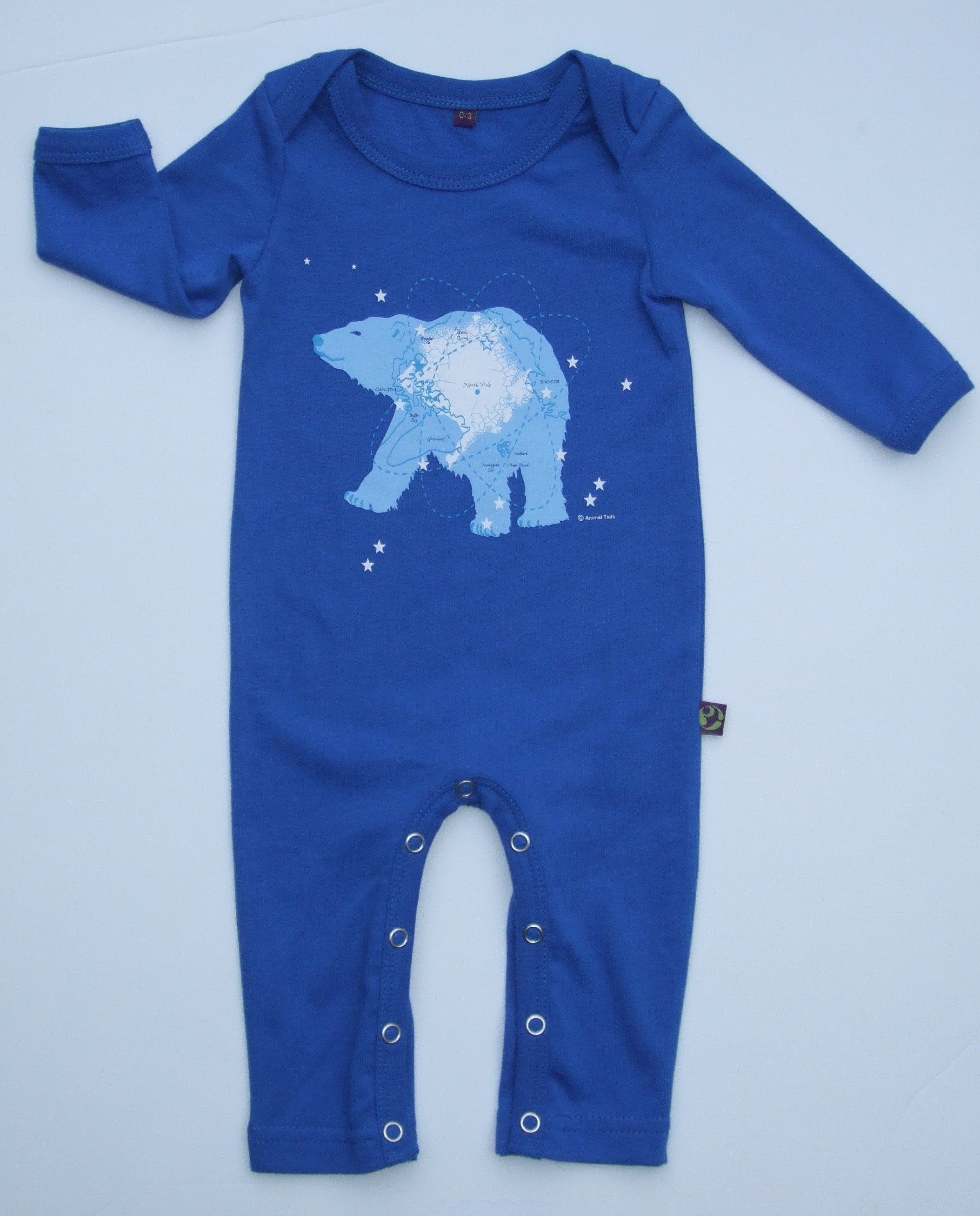 Animal Tails Organic Cotton Baby Romper