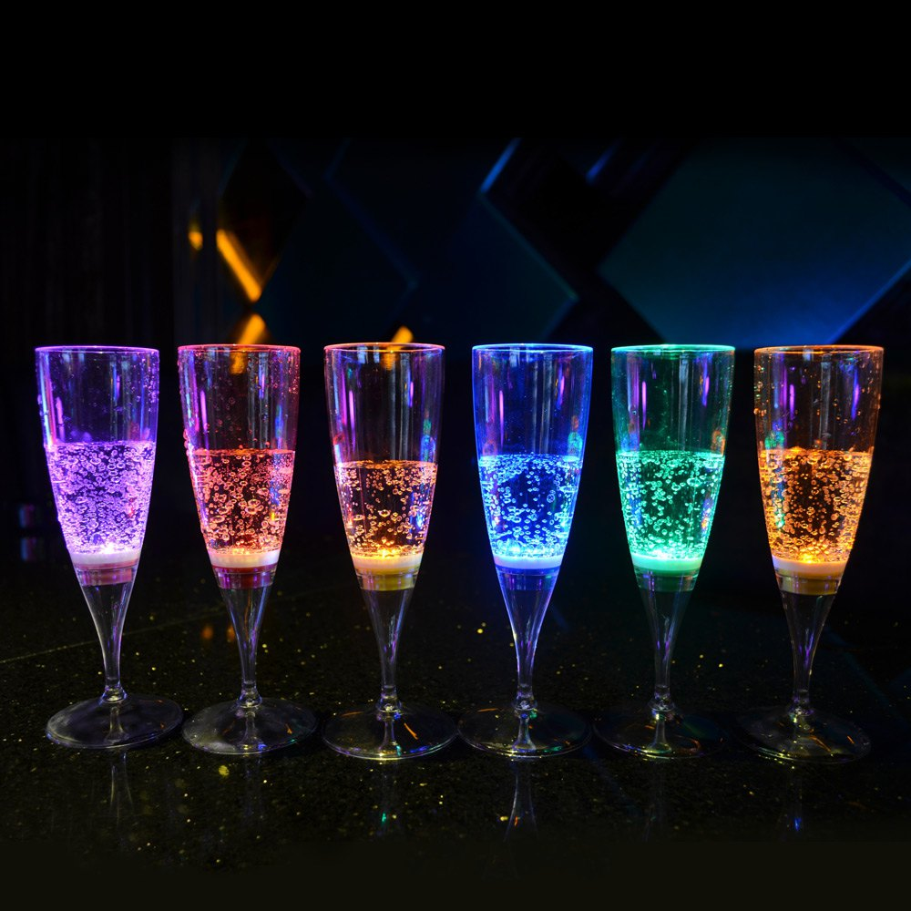 Champagne flute with LED light / Promotional product fully customized  to your requirements UK Supplier