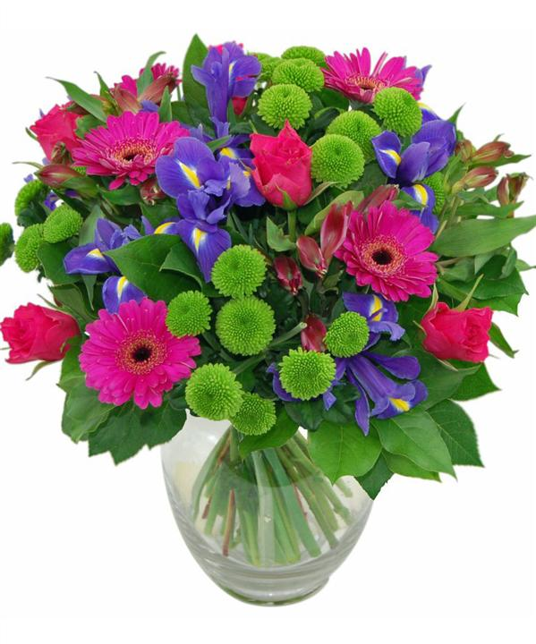 Vibrant Mothers Day Vase Arrangement