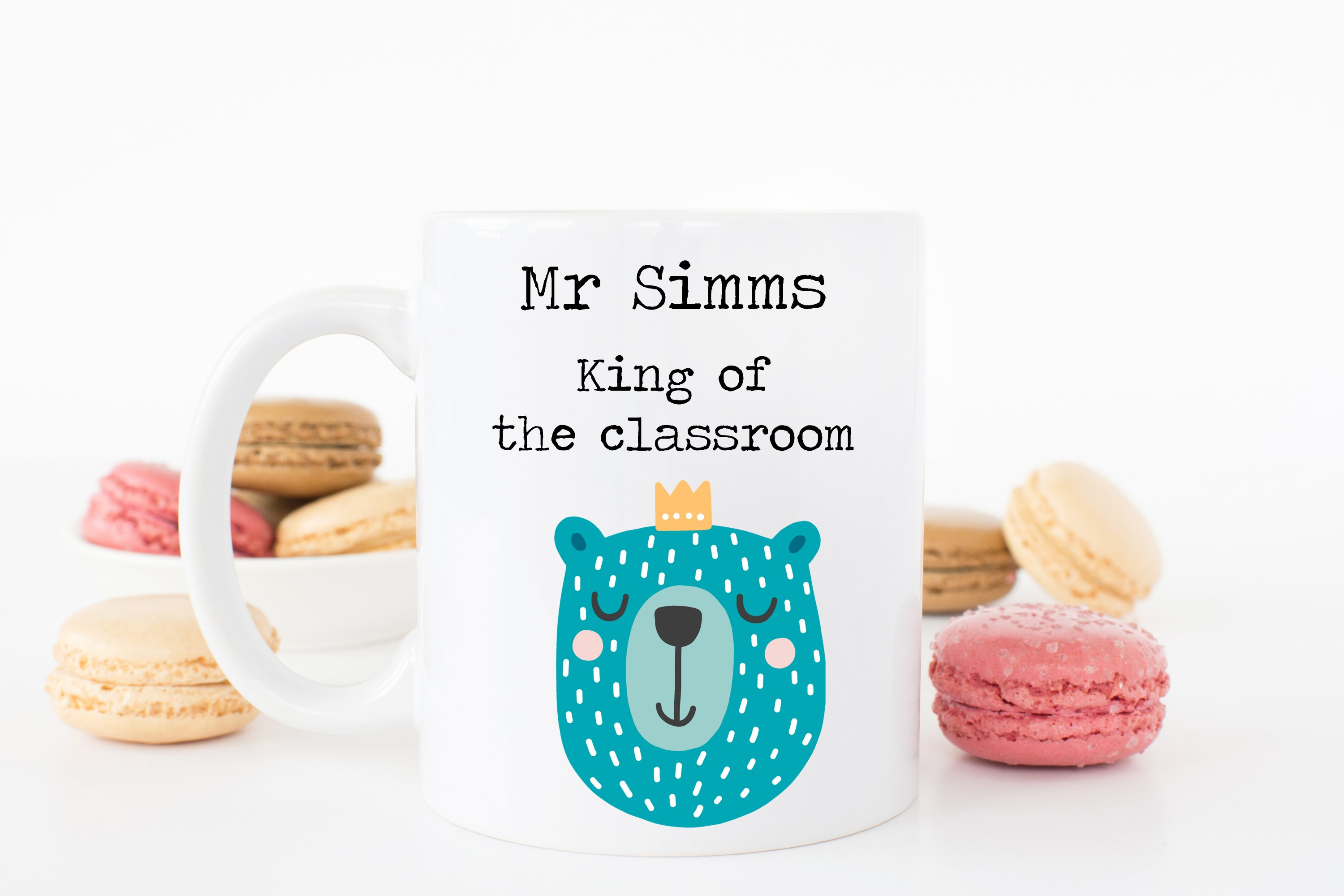 King of the classroom teacher mug