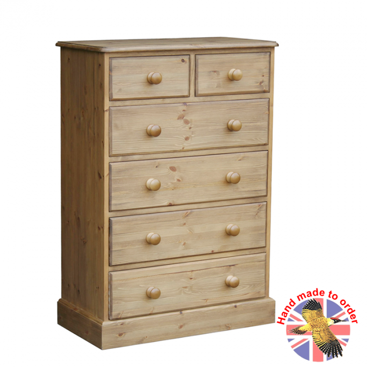 "Cottage Pine 2+4 30"" Chest"