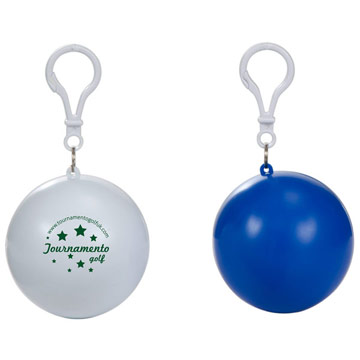 Poncho  Waterproof Pod Keyring Attachment / Promotional product fully customized  to your requirement UK Supplier