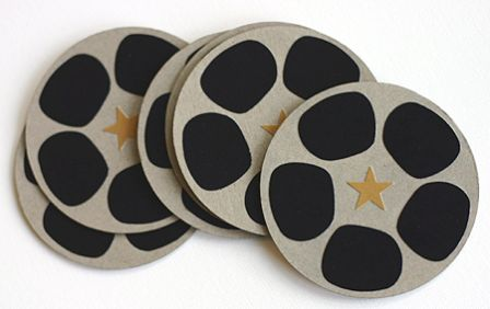 Movie Reel Photo Coasters/Promotional product fully customized  to your requirement UK Supplier
