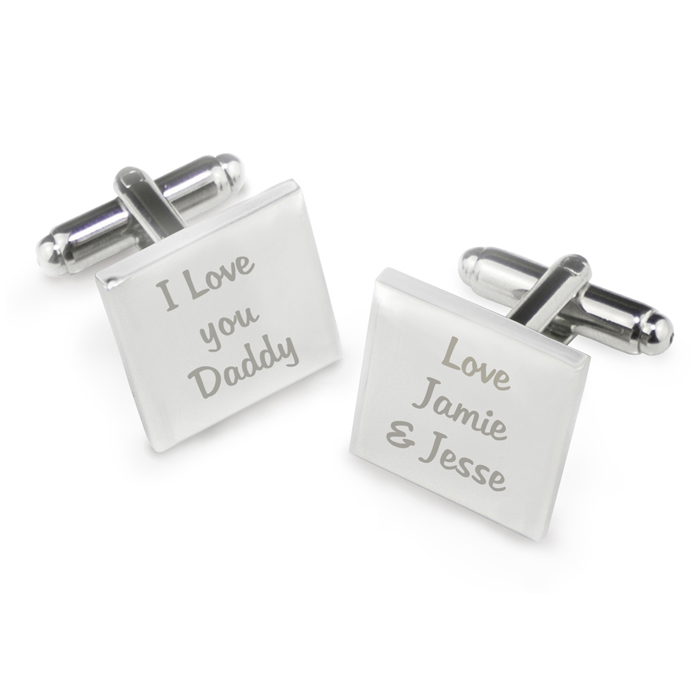love you daddy cufflinks