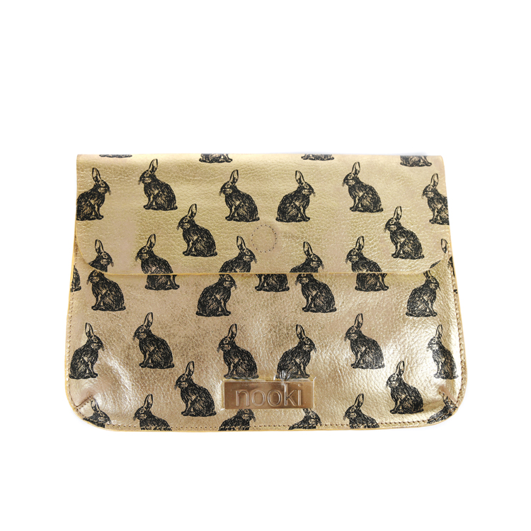 Nooki Abracadabra Clutch Bag in Gold