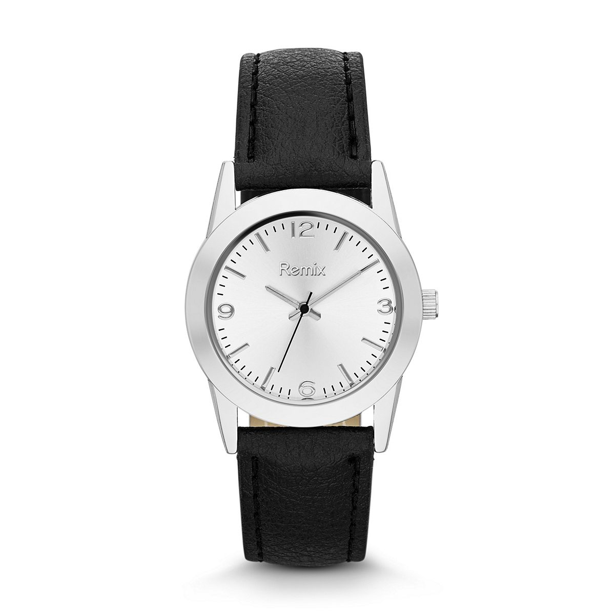 Classic Black Leather Strap Watch For Ladies ?/ Promotional prod
