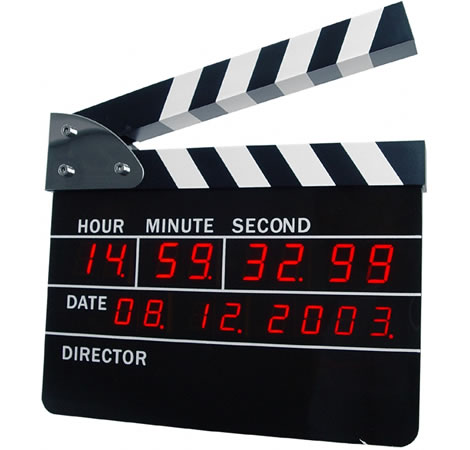 Clapperboard digital alarm clock / Promotional product fully customized  to your requirement UK Supplier