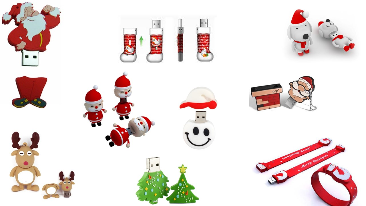 Christmas USB Flash Drive Usb Stick, Pen Drive / Promotional product fully customized  to your requirement UK Supplier