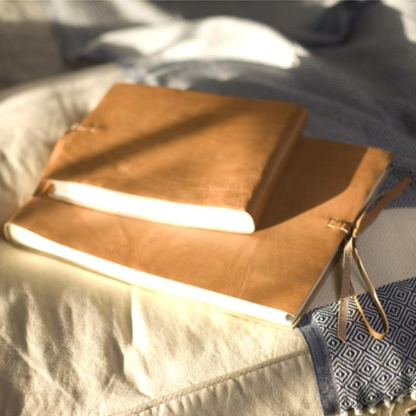 Rustic Leather Bound Photo Album with Tie