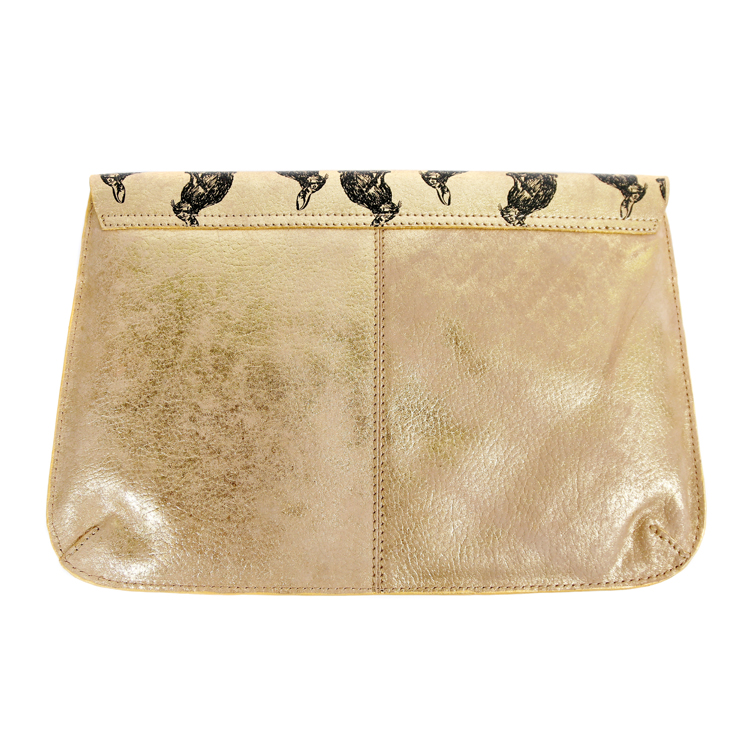 Nooki Abracadabra Clutch Bag in Gold Back