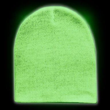 Glow in the Dark Beanie Hat / Promotional product fully customized  to your requirement UK Supplier