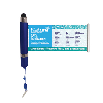 Banner Stylus Pen / Promotional product fully customized  to your requirement UK Supplier