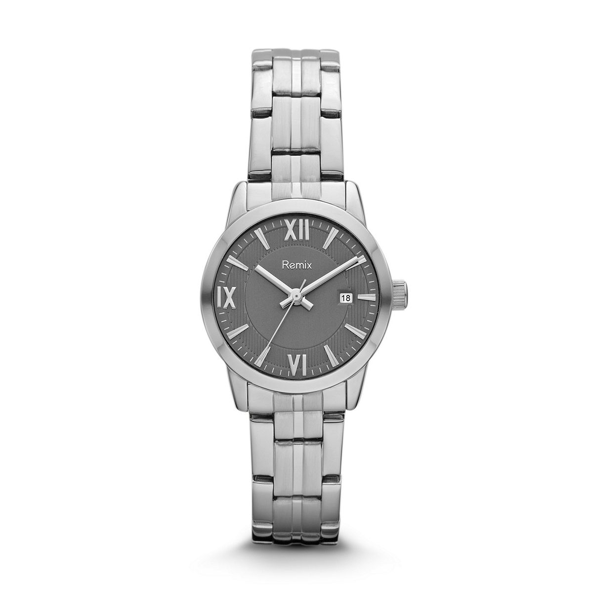 ?Classic Stainless-Steel Grey Dial Watch For Ladies ?/ Promotion