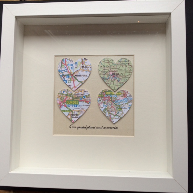 Four heart map frame