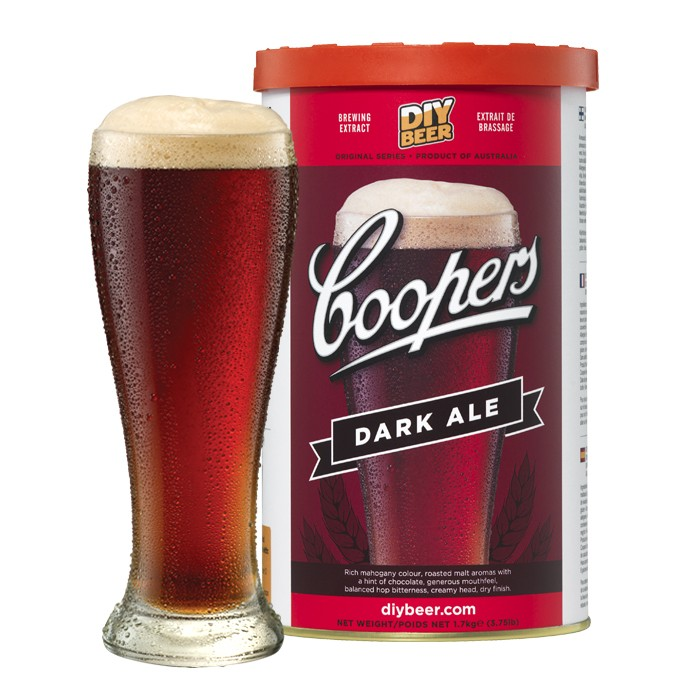 Coopers Dark Ale 40 Pint 1.7kg Home Brew Beer Kit