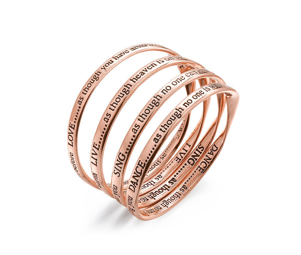 rose gold inspirational bangle