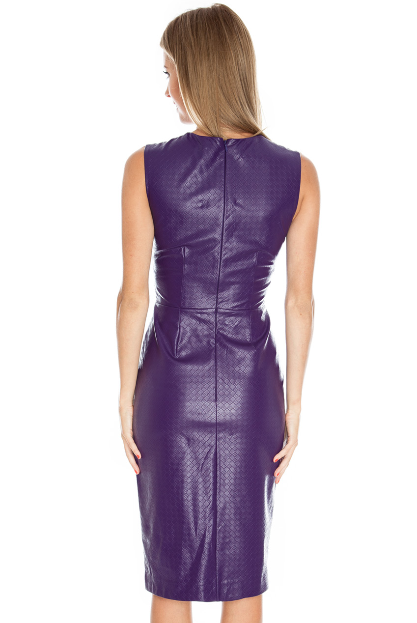 PU Dress Back - Purple