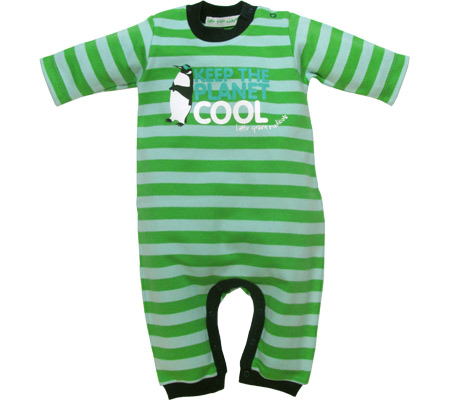 Organic Cotton Baby Romper suit - Keep the Planet Cool