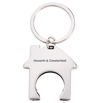 House Trolley Token Keyring / Promotional product fully customized  to your requirement UK Supplier