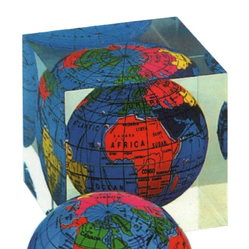 Stylish acrylic Globe paperweight / Promotional product fully cu
