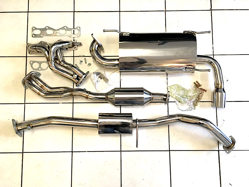 Mazda MX5 performance stainless steel exhaust system
