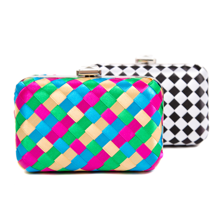 Harlequin Box Clutch Bag