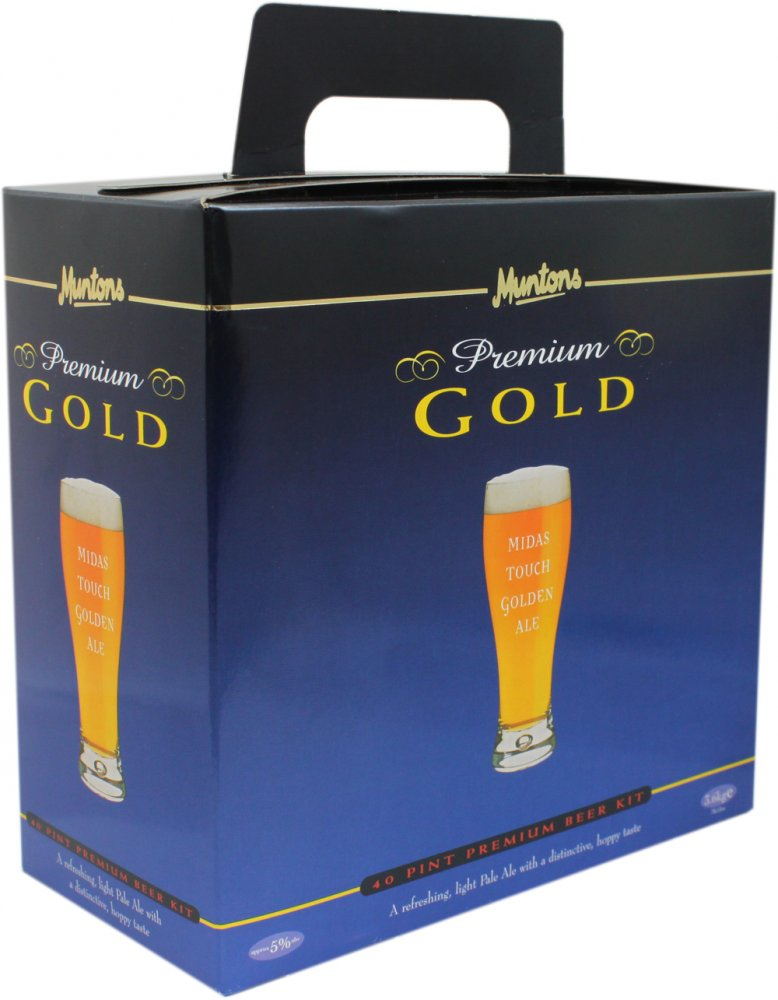Muntons Premium Gold Midas Touch Golden Ale 40 Pint 3.6kg Home Brew Beer Kit