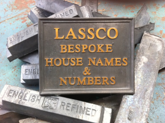 Lead House Sign Square 36 x 36cm