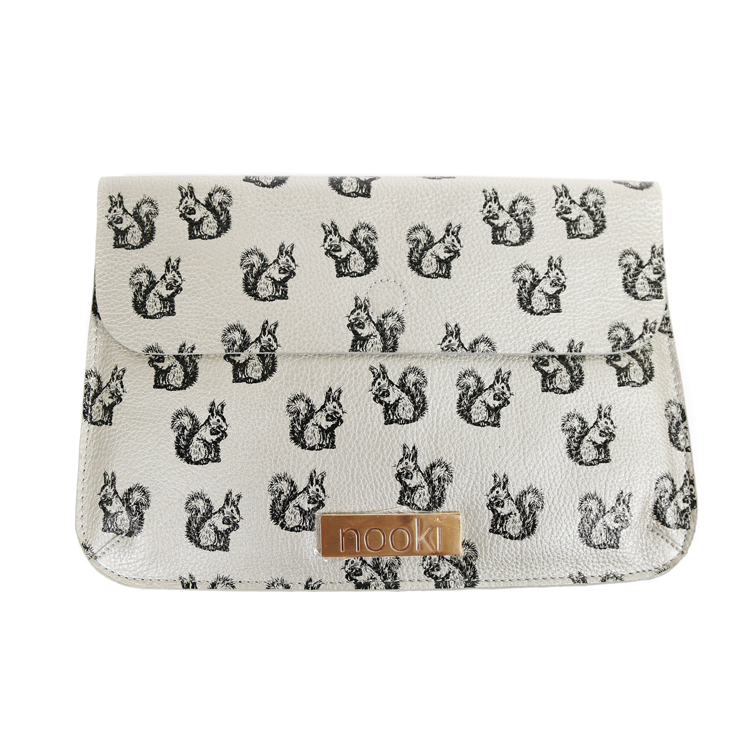 Nooki Suzy Squirrel Clutch Bag - Silver