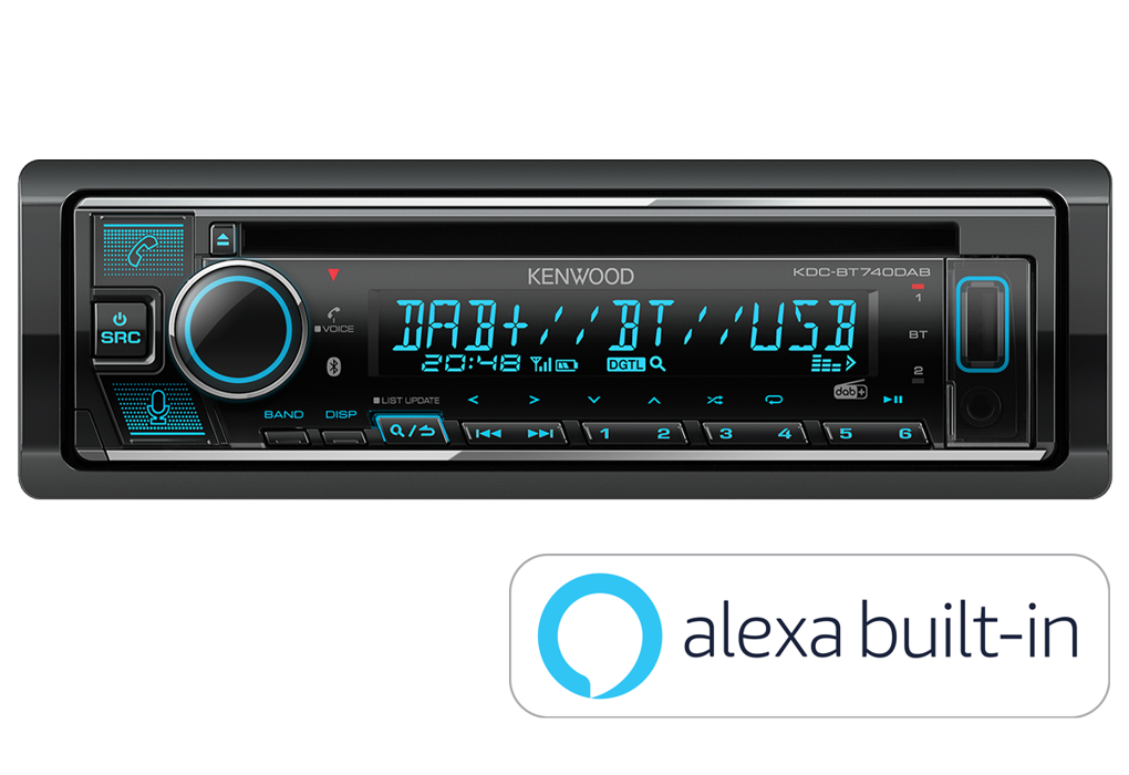 Kenwood Car Audio Kenwood KDC-BT740DAB CD Receiver with Built-in Alexa, Bluetooth & DAB+ Radio