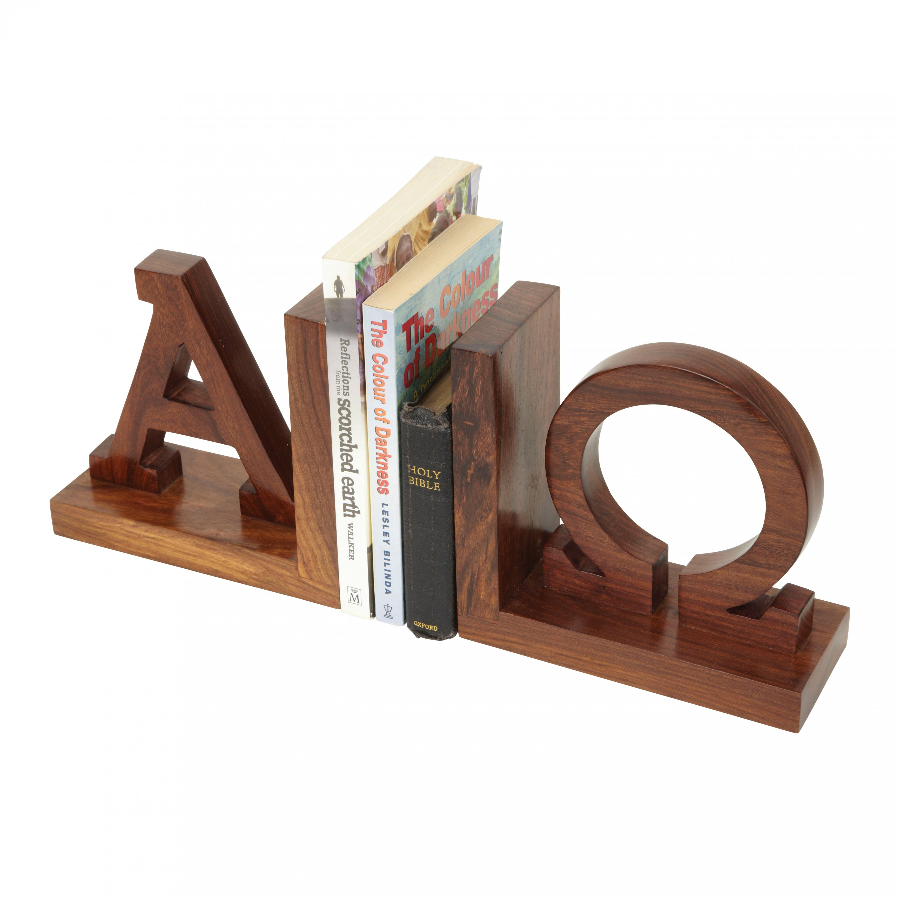 Alpha Omega Bookends