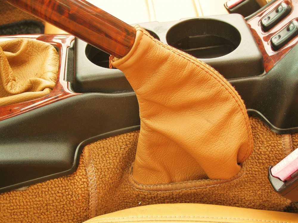 Tan Leather Handbrake Sleeve Mazda MX5