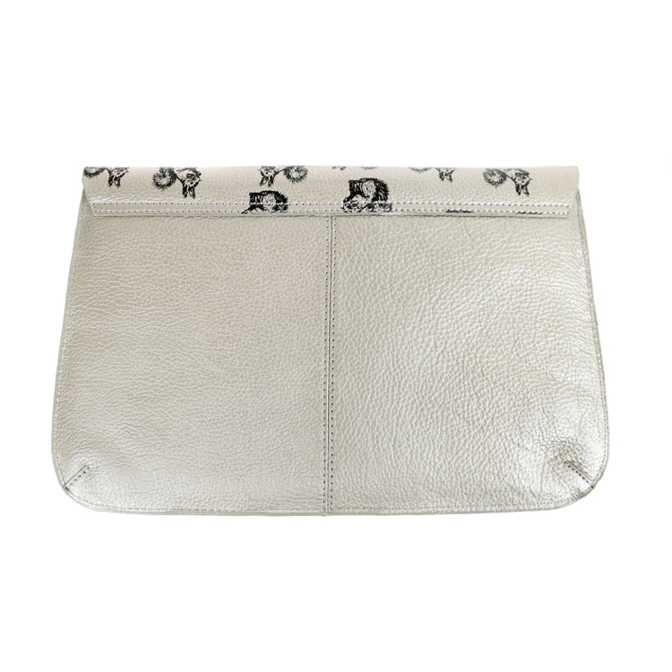 Nooki Suzy Squirrel Clutch Bag Back - Silver