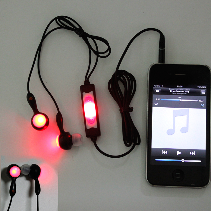 LED light up earphones / Promotional product fully customized  to your requirement UK Supplier