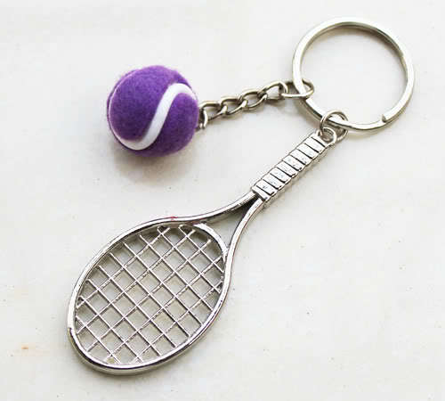 Tennis racket keychain / Promotional product fully customized  t