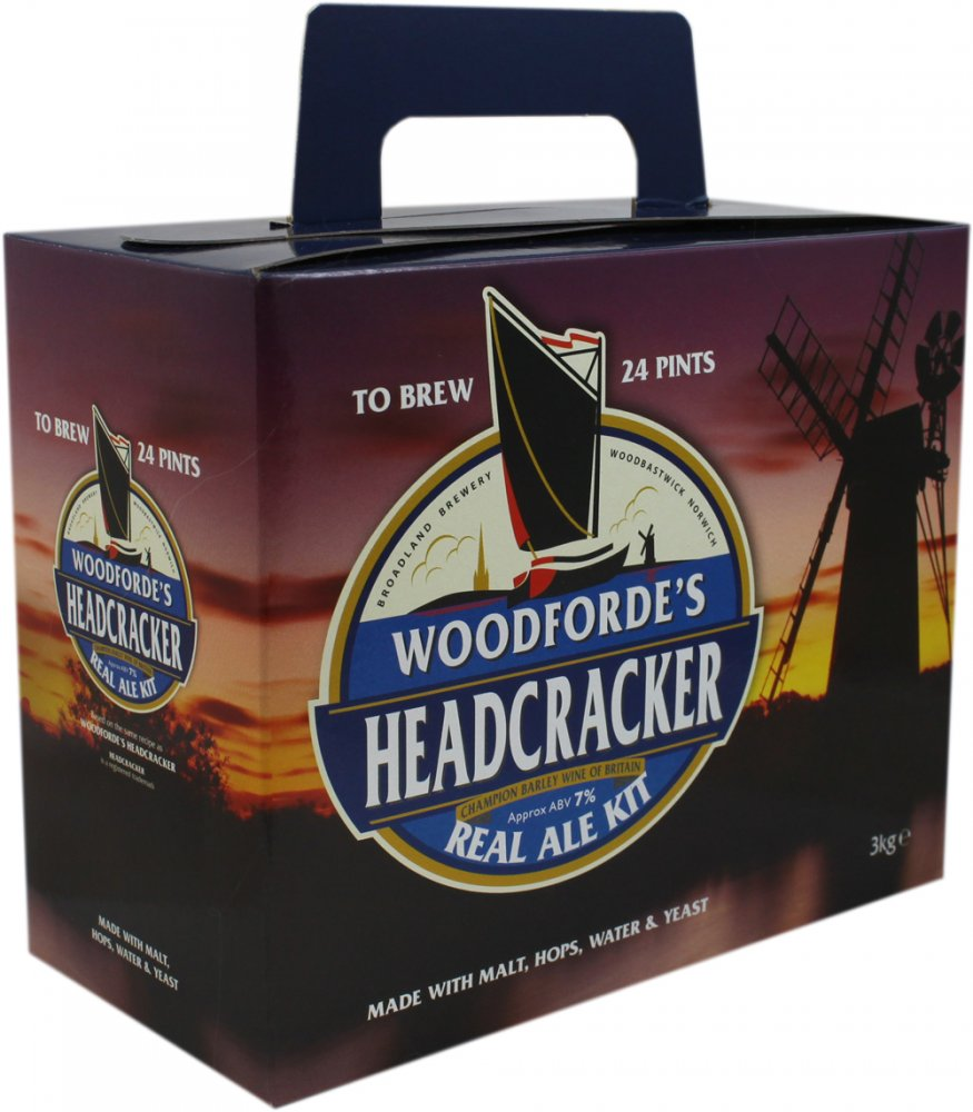 Woodfordes Headcracker 24 Pint 3kg Home Brew Beer Kit