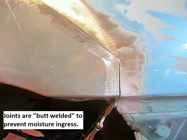 butt-welded joints