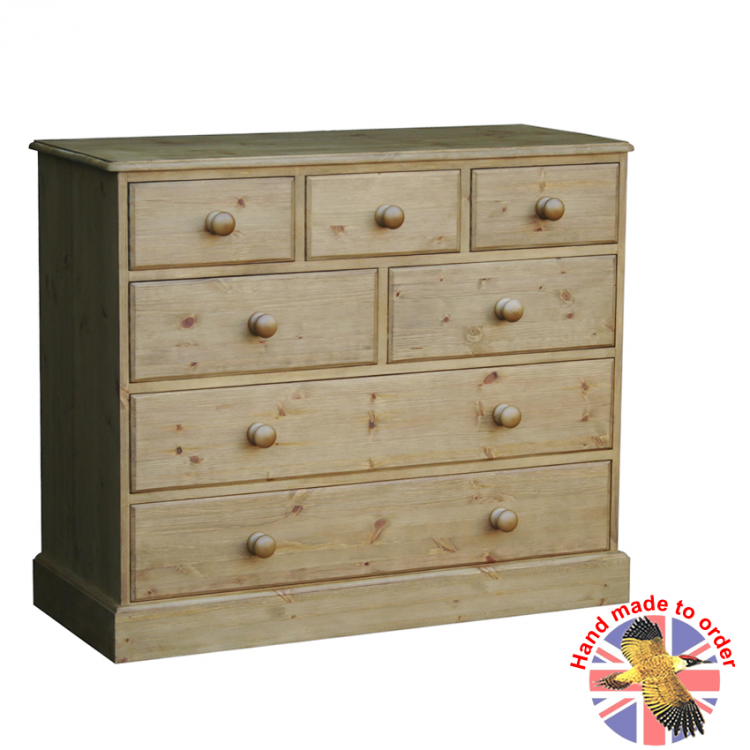 Cottage Pine 7 Drawer Combi Chest