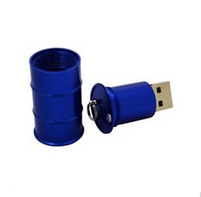 Metal oil drum  shaped USB  flash drive/ Promotional product fu