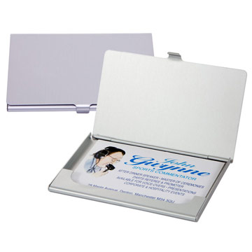 Aluminium Business Card Case (Silver) / Promotional product fully customized  to your requirement UK Supplier