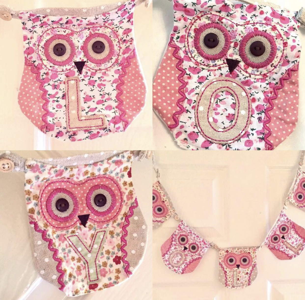 *SALE* Owl Bunting