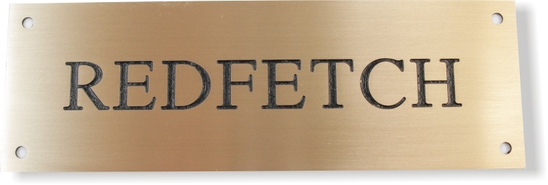 Solid Brass Stable Door Nameplate