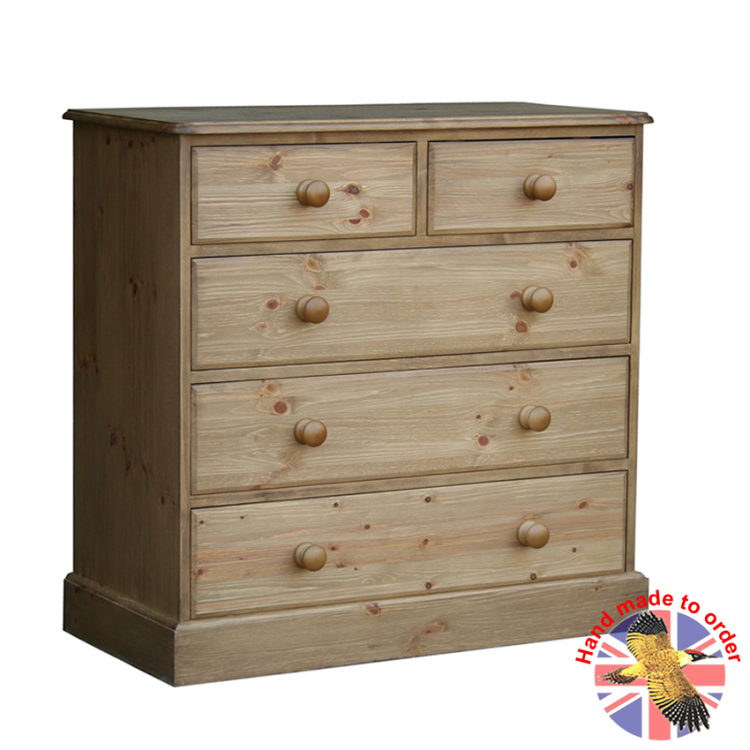"Cottage Pine 2+3 36"" Chest"