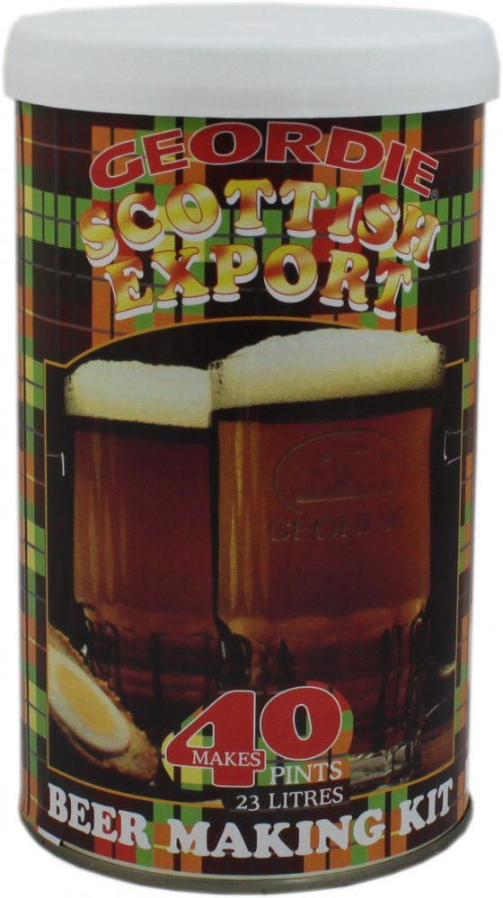 Geordie Scottish Export 40 Pint 1.6kg Home Brew Beer Kit