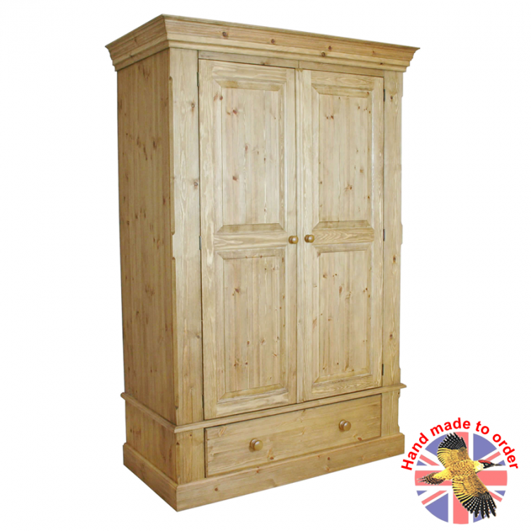 Cottage Pine 1 Drawer Double Wardrobe
